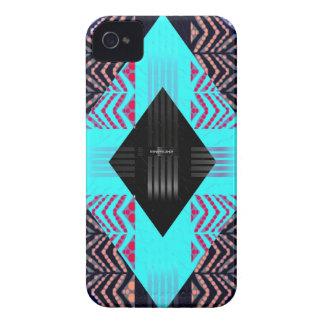 Trippy LeuchtstofftürkisZebra abstrakt iPhone 4 Etuis