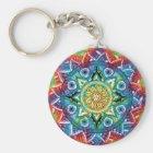 Trippy Mandala Schlüsselanhänger