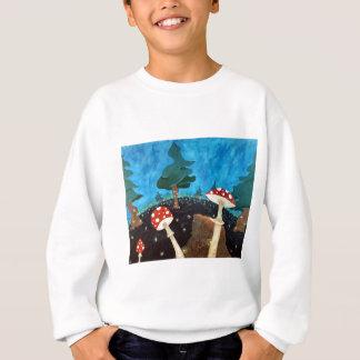trippy Nacht im Holz Sweatshirt