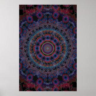Trippy Plakat Abstrakte Radialgrafik