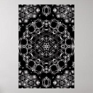 Trippy Plakat Psychedelische Kaleidoskop-Grafik