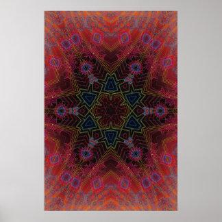 Trippy Plakat: Psychedelische Radialgrafik Poster