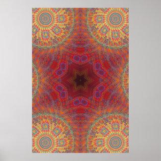 Trippy Plakat: Psychedelische Radialgrafik