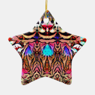 Trippy Rave-Ratte Keramik Ornament