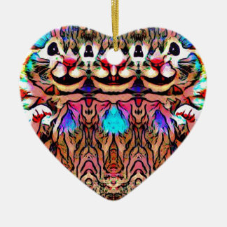 Trippy Rave-Ratte Keramik Ornament