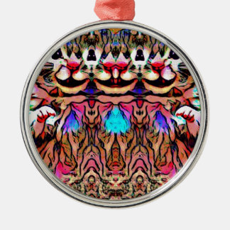 Trippy Rave-Ratte Silbernes Ornament