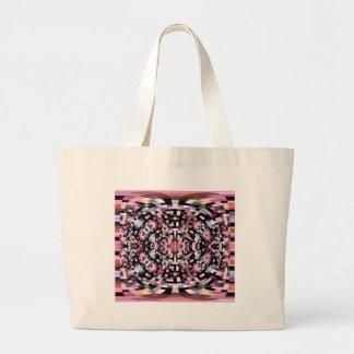 Trippy rosa und schwarzes geometrisches jumbo stoffbeutel