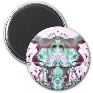 Trippy Rotwild-Ravefestival Runder Magnet 5,1 Cm