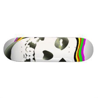 Trippy Skull. Skate Board Deck