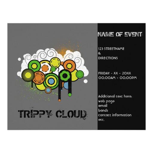 Trippy Wolke kundengerecht Flyerdruck