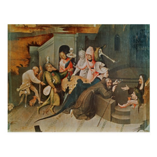 Triptychon der Versuchung von St Anthony Postkarte