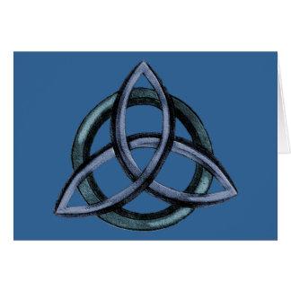 Triquetra (blau) karte