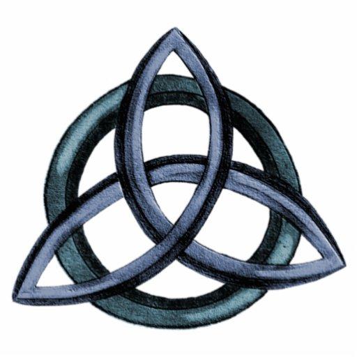 Triquetra  blauer  AcrylPin FotostatueTriquetra