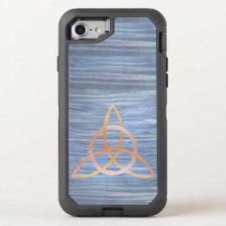 Triquetra | blaues Goldkeltischer Dreiheits-Knoten OtterBox Defender iPhone 8/7 Hülle