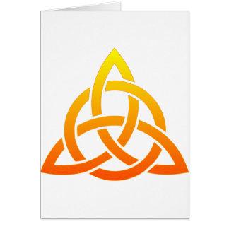Triquetra/keltischer Dreiheits-Knoten Karte