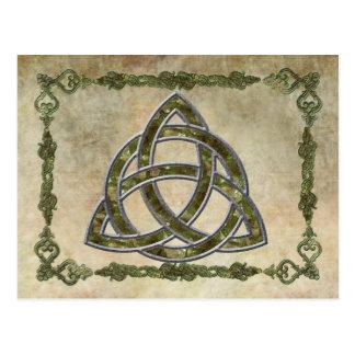 Triquetra natürlich postkarte