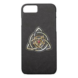 Triquetra Pentagram auf Schwarzem iPhone 8/7 Hülle