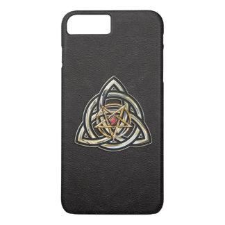 Triquetra Pentagram auf Schwarzem iPhone 8 Plus/7 Plus Hülle