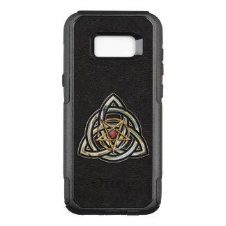 Triquetra Pentagramm-Dreiergruppen-Schicksal OtterBox Commuter Samsung Galaxy S8+ Hülle