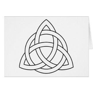 Triquetra Symbol Karte