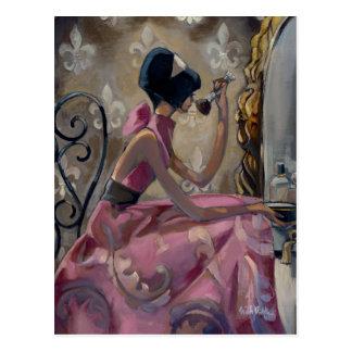 Trish Biddle Pulver-Rosa-Eitelkeit Postkarte
