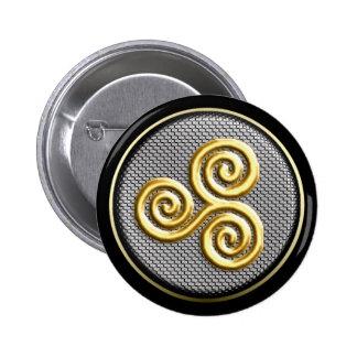 Triskele Runder Button 5,7 Cm