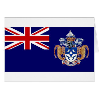 Tristan DA Cunha Flagge Karte