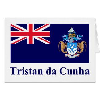 Tristan DA Cunha Flagge mit Namen Karte