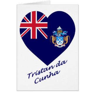 Tristan DA Cunha Flaggen-Herz Karte