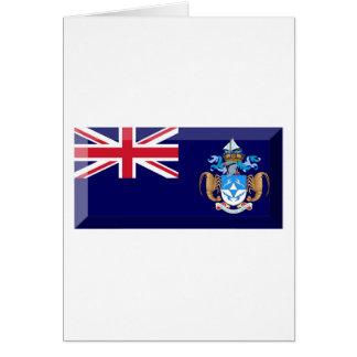 Tristan DA Cunha Flaggen-Juwel Karte