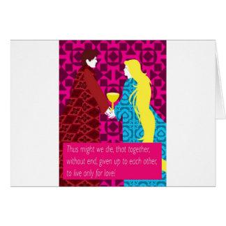 Tristan und Iseult Geschenk mit Zitat Karte