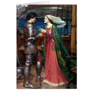 Tristan und Isolde durch John William Waterhouse Karte