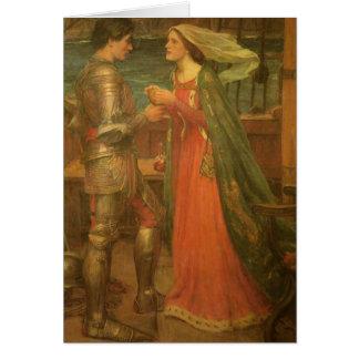 Tristan und Isolde durch Waterhouse, Vintage feine Karte