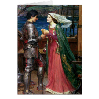 Tristan und Isolde mit dem Trank Karte
