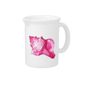 Tritonshorn-Muschelskizze - pinkfarbenes rosa und Getränke Pitcher