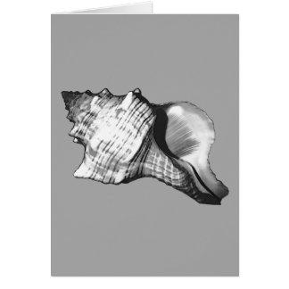 Tritonshorn-Muschelskizze - Schatten von Grauem Karte