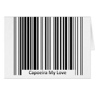 Tritt capoeira Karten-Liebegruß Karte