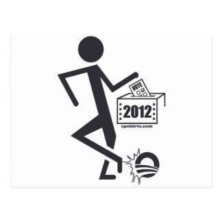 Tritt Obama heraus Postkarte