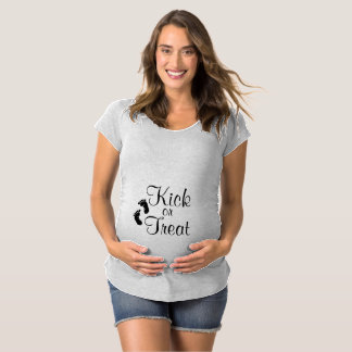 Tritt-oder Leckerei-Mutterschafts-Shirt Schwangerschafts T-Shirt
