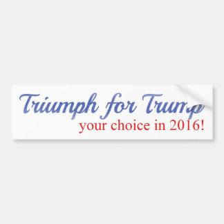 Triump für Trumpf, Ihre Wahl im Jahre 2016 Autoaufkleber