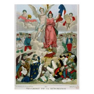Triumph der Republik, 1875 Postkarte