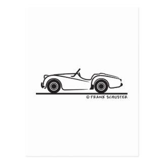 Triumph TR3 Postkarte