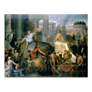 Triumph von Alexander oder der Eingang von Alexa Postkarte