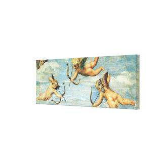 Triumph von Galatea, Engelsdetail durch RAPHAEL Leinwanddruck