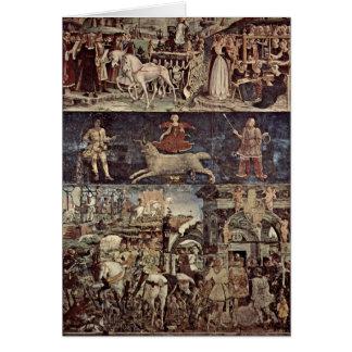 Triumph von Minerva durch Francesco del Cossa Karte