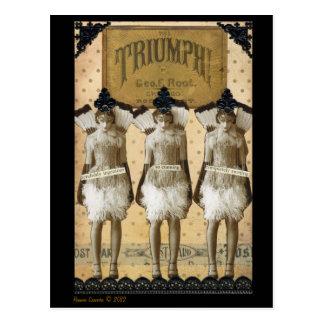 Triumphierende Postkarte