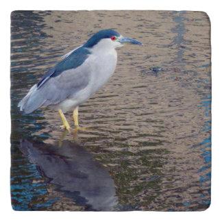 Trivet, Marmor mit hawaiischem Wasser-Vogel Töpfeuntersetzer