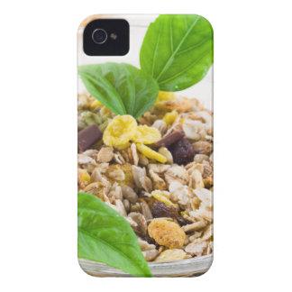 Trockene Mischung von muesli und von Getreide in iPhone 4 Hülle