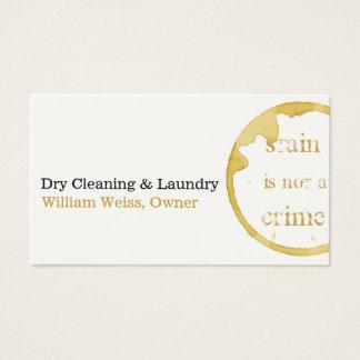 Trockenreinigungs- und Wäschereikaffee beflecken Visitenkarte