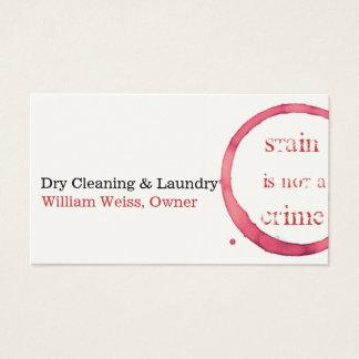 Trockenreinigungs- und Wäschereiwein beflecken Visitenkarte